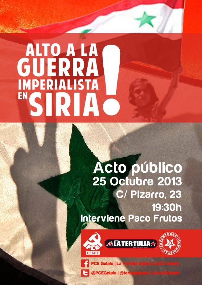 Cartel acto Siria